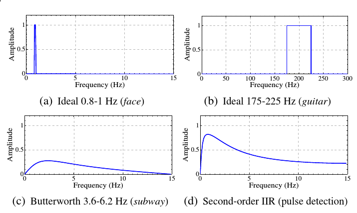 Temporal filters used in Wu's paper